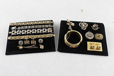 15 x Vintage DAMASCENE TOLEDO WARE & SHAKUDO JEWELLERY inc. Gents, Cufflinks