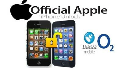 O2 / Tesco / Giffgaff UK Apple IPhone Factory Unlock Code Service