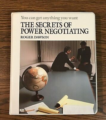 The Secrets of Power Negotiating by Roger Dawson / Set of 6 Audio Cassettes