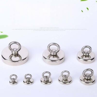 10-200KG Strong Recovery Magnet Neodymium Salvage Hook Treasure Hunting Fishing