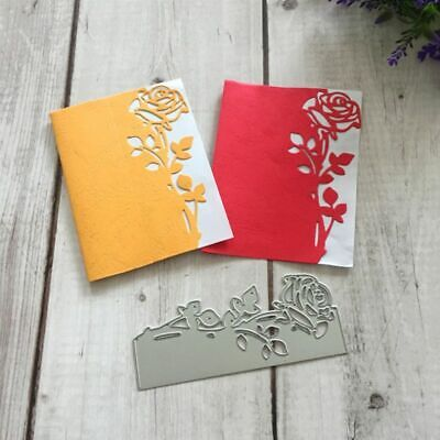 Rose Flower DIY Metal Cutting Dies Stencil Scrapbooking Paper Embossing Card