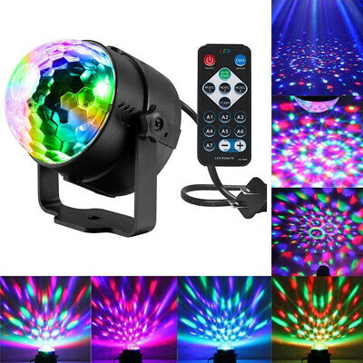 LED Disco Ball DJ Party Light Effect Strobe Remote Sound Activated Bulb Lamp