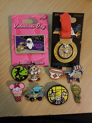 Disney pins random lot of 10 pins tradeable Limited Edition Limited release pin