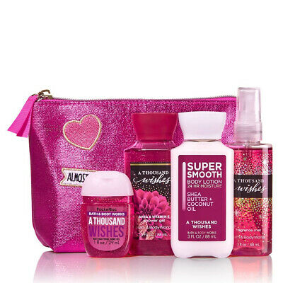 Bath & Body Works A THOUSAND WISHES Perfect Travel Size Gift Bag For Spring 2019