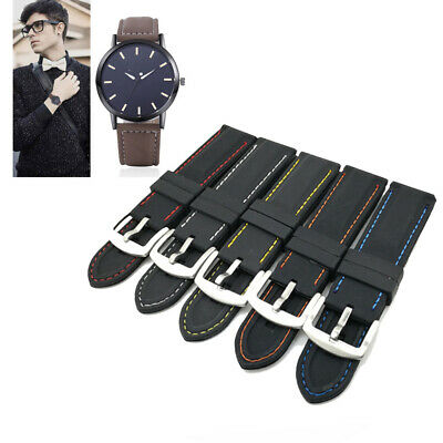 20-26mm Mens Soft Silicone Replacement Watch Band Sport Diver Waterproof Strap