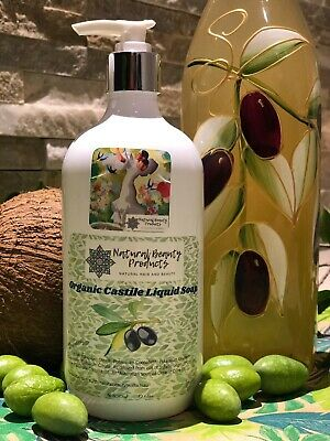 Organic Castile Liquid Soap--PURE AND NATURAL-CONCENTRATE -Body, cleaning