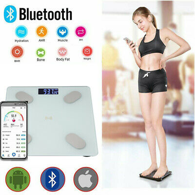 Bluetooth Body Fat Scale Smart BMI 180KG Digital Bathroom Wireless Weight Scale