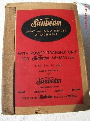 Vintage Sunbeam  Meat And Food Mincer Attachment, In Original Box, As New