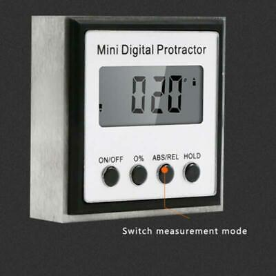 Mini LCD Digital Inclinometer Protractor Bevel Angle 90° Gauge Magnet Base Tools