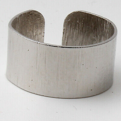 Fashion Punk Stainless Steel Ring Wide Band Men/Women's Jewelry Adjustable
