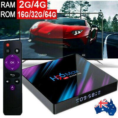 H96 Max TV BOX Android 9.0 RK3318 Smart Media Player 4+32GB/64GB ROM Digital