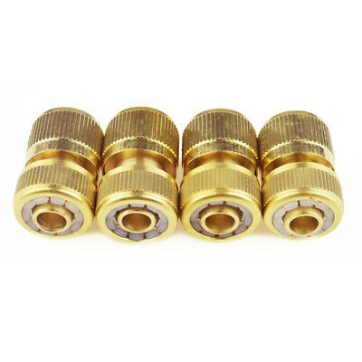 """8PCS Brass Lawn Water Hose Connector Tap Adaptor Pipe Fitting 1/2"""" 3/4"""" Garden"""