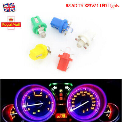 10X 24V B8.5D T5 W3W Car Gauge LED Wedge Dashboard Dash Interior Light Bulb Lamp