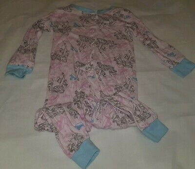 Gorgous pink Disney princess YOUNG DIMENSIONS footless pyjama Age 5 6 Years