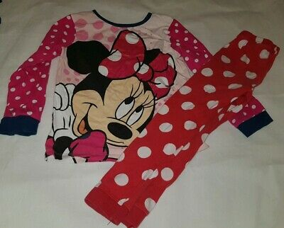 Gorgous minnie mouse daffy duck MATALAN top trousers pyjama set Age 4 5 Years