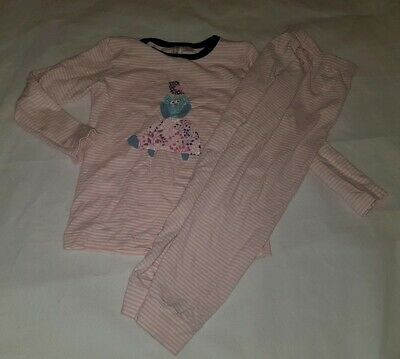 Gorgous pink striped GINGER LILLY top trousers pyjama set Age 5 Years