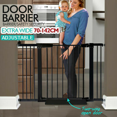 76cm Tall Adjustable Wide Baby Kids Pet Safety Security Gate Stair Barrier Doors