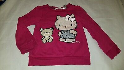 Gorgous pink HELLO KITTY @ H&M jumper top age 4 5 Years