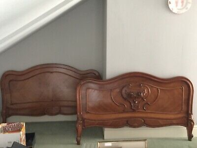 antique French Walnut  bed frames
