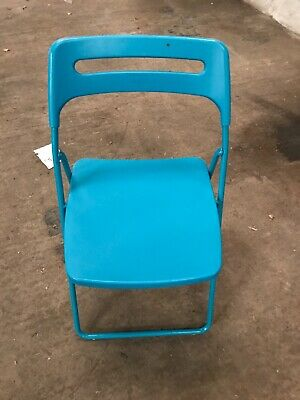 Sensational Turquoise Nisse Ikea Folding Chairs X 15 Used Good Squirreltailoven Fun Painted Chair Ideas Images Squirreltailovenorg