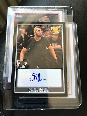 WWE TOPPS Seth Rollins Authentic Autograph Card