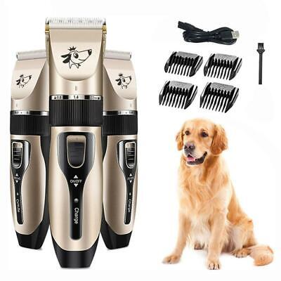 Electric Cat Dog Clipper Cordless Pet Clippers Hair Shaver Grooming Trimmer