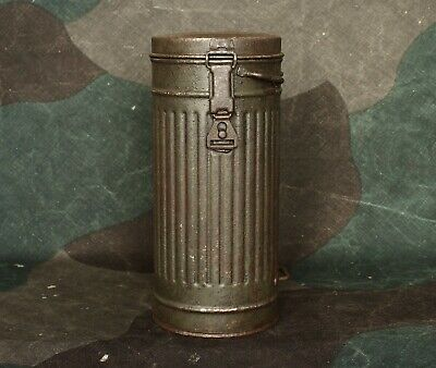 Original WW2 German Relic Gas Mask Canister / Case - Wehrmacht / LW - Long -