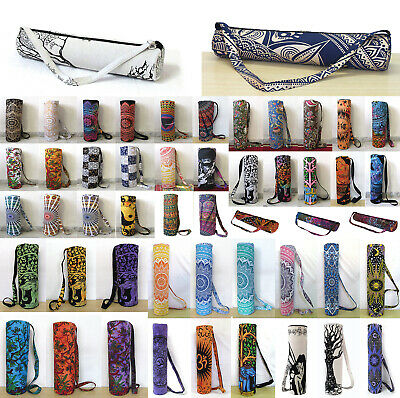Mandala Cotton Yoga Bag Large Collection Of Yoga Mat Shoulder Strap Carrier Bag