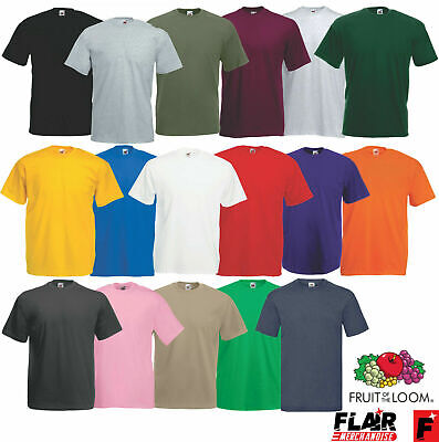 5 Pack Fruit Of The Loom Men's Valueweight T-Shirt S-3XL, Multi Colours Shirt