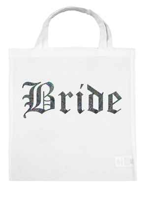 Team BRIDE Tote Wedding Bags Tribe Squad Hen Party Night Gift Bag Silver Bubble
