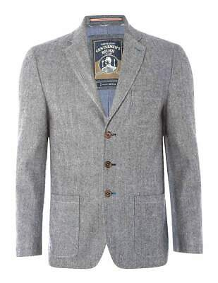 White Stuff Mens Grey Long Sleeve Billiard Herringbone Jacket Size L