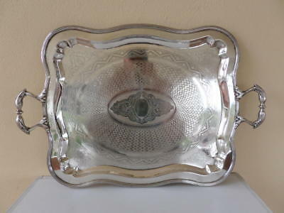 Antique Russian Fraget WARSZAWIE  Beautiful  Large   Serving Tray.