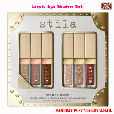 Eye Elegance Shimmer Glitter Liquid Eye Shadow 6Pcs Stila Eye Beauty Make up kit