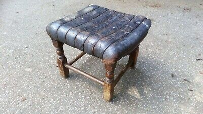 Victorian Leather Footstool