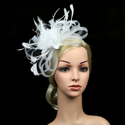 Large Fascinator Headband Aliceband Hat Weddings Ladies Day Races Royal Ascot UK