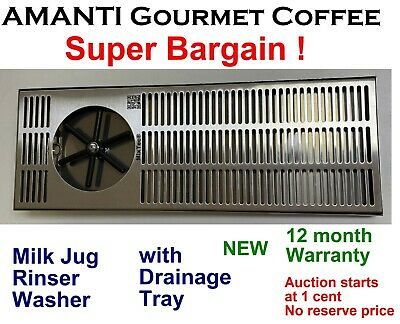 BARGAIN * NEW MixTec professional Coffee Milk Jug Pitcher Rinser Washer + AMANTI