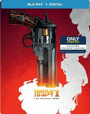 Hellboy II: The Golden Army [SteelBook] [Includes Digital Copy] [Blu-ray] New