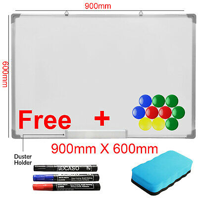 Dry Wipe Magnetic 90X60CM Whiteboard White Notice Memo Board School Office Home