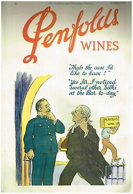 PENFOLDS WINES AD LEGAL BARRISTER LAW AD Original 1930s Vintage Print Ad*Retro