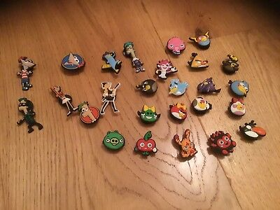 8 X Phenas And Ferb & 18 Angry Birds Croc Shoe Charms, Jibbitz.  NEW