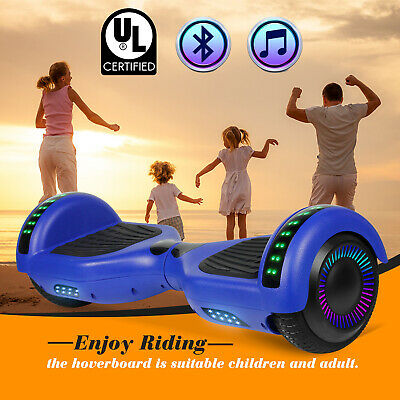 "6.5"" Bluetooth Hoverboard for Kids Electric Scooter Balance LED UL2272 LED Blue"