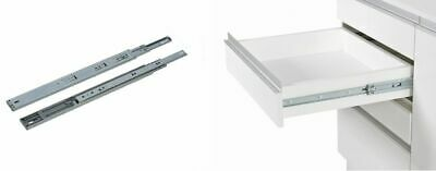 16 Pair of Double Fully Extension Ball Bearing Drawer Slide Runner Heavy Duty 60kg With Fitting Pair 400mm