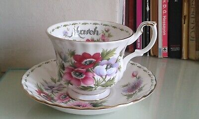Royal Albert Flower of the month March, teacup & saucer