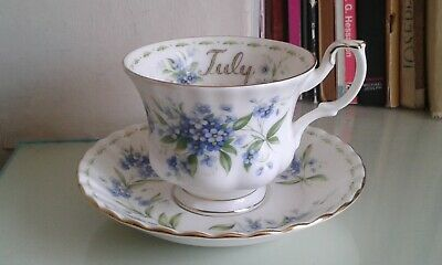 Royal Albert Flower of the month July , teacup & saucer