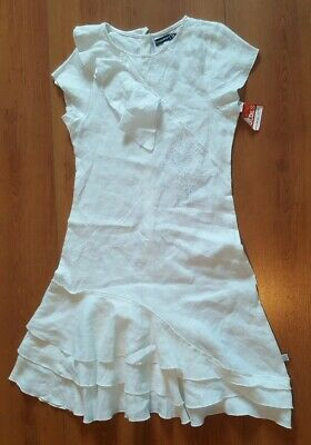 f7691ca3c77ad NEUF! splendide robe Jean Bourget en lin. taille 10 ans. Val   55