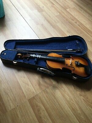 Vintage Lark Half Size Violin With Bow And Hard Case