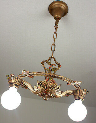 Antique Vintage 20's ART DECO Ceiling Light CHANDELIER SET AVAILABLE