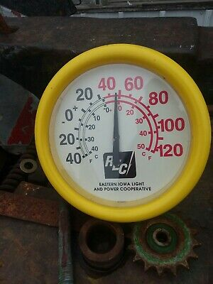 Vintage  Advertising Thermometer Rural Electric Cooperative -Iowa