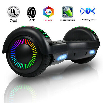 """6.5"""" Bluetooth Hoverboard LED Light Electric Self Balance Scooter Overboard +bag"""
