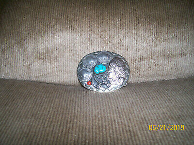 Native American Indian Buffalo Nickel Belt Buckle